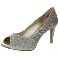 Bandolino Womens Rainaa Gold Peep-Toe Heels Shoes 9.5 Medium (Bm) Bhfo 9155 Photo