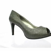Bandolino Womens Rainaa Gunmetal Open Toe Heels Size 9.5 (661372) Photo