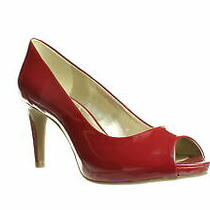 Bandolino Womens Rainaa Red Peep Toe Heels Size 9 (1293171) Photo