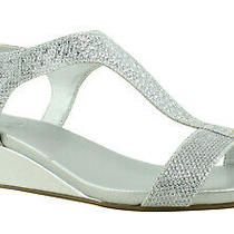 Bandolino Womens Silver Ankle Strap Heels Size 9.5 (409548) Photo