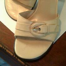 Bandolino  Womens Size 6.0 M Light Beige Slip on Low Heel Mules Photo