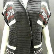 Bandolino Womens Xl Basic Button Sweater Graphite Gray Knit Nwd Photo