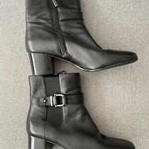 Bandolino Womens Zip Up Ankle Boots Black  Size 7 Photo