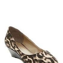 Bandolino Yara Womens Wedge Pump Slip on Leopard Heels Size 5.5 M  Photo