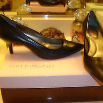 Bandolino Zadina Black Leather Shoe Wedding Prom Bridal  Heel Nice Quality 79 6 Photo