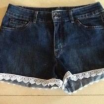 Bandolinoblu Jean Shorts With Lace  Photo