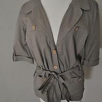 Bandolinoblu Khaki Safari Belted Jacket Top Large Macy's Photo