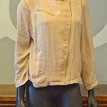 Bar Iii Blush Asymmetrical Mandarin Collar Bomber Jacket - Large Photo
