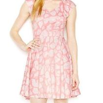 Bar Iii New Blushing Pink Womens Medium M Printed a-Line Sheath Dress 79 081 Photo