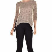 Bar Iii Three Quarter Sleeve Scoop Nec Blush Combo Xs ( Size ) Women's Clothing Photo