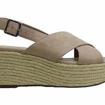 Bar Iii Womens Bianka Fabric Open Toe Ankle Strap Wedge Pumps Blush Size 8.0 E Photo