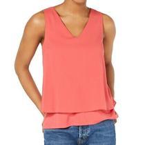 Bar Iii Womens Blouse Blush Pink Size Small S v-Neck Layered-Hem Top 39 278 Photo