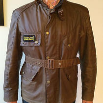 Barbour Antique International Motorcycle Jacket L Brown Photo