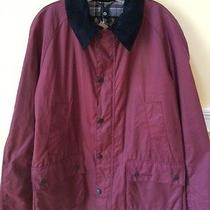 Barbour Ashby Waxed Jacket - Biking Red - Nwt - L Photo