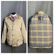 Barbour Beaufort Men's Beige Motorcycle Jacket Size L Photo