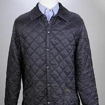 Barbour Black Diamond Quilted 'Liddesdale' Classic Barn Jacket Mens Medium Photo