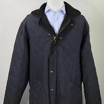 Barbour Black Microfiber Polarquilt Quilted Barn Jacket Men's Long Xl Photo