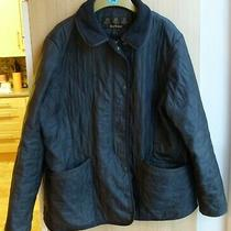 Barbour Black Quilted Jacket Uk Size 20 Photo