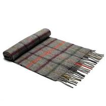 Barbour Bolt Tattersall Scarf  Derby Grey  69 Photo
