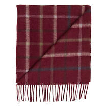 Barbour Bolt Tattersall Scarf  Rosewood  69 Photo