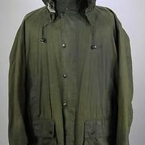 Barbour Border Mint Green Waxed Cotton Barn/field Jacket W/ Hood C44 / 122cm Photo