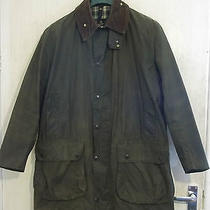 Barbour Border Waxed Jacket Size C42 107cm With Both Game Pockets Photo