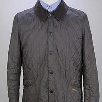 Barbour Brown Lightweight Liddesdale Quilted Barn Jacket Coat Men's Small Photo