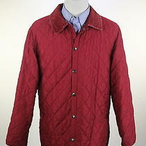 Barbour  Burgundy Red Diamond Quilted 'Classic Eskdale' Barn Jacket Medium Photo