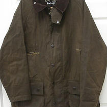 Barbour Classic Beaufort Mens 44 Olive Waxed Cotton With Game Pocket Photo