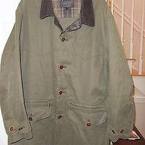 Barbour Cotton Barn Jacket Size Large T321 Canvas - No Wax Photo