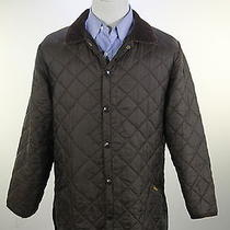 Barbour  Dark Brown Diamond Quilted Barn Jacket Coat Men's Large Photo