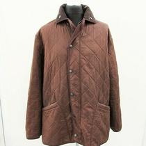 Barbour Duracotton Polarquilt Jacket Large Coat Brown Fleece Padded Photo
