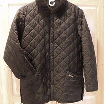 Barbour Eskdale Barn Field Jacket Coat Black Men's Size Medium M Euc Free Ship Photo