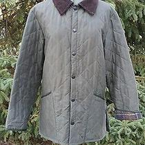 Barbour Eskdale Barn Jacket Quilted Green Mens Xs England  Photo