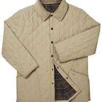 Barbour 'Eskdale' Light Gold Diamond Quilted Barn Field Jacket Small Photo