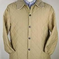 Barbour 'Eskdale' Light Gold Diamond Quilted Barn Field Jacket Medium Photo