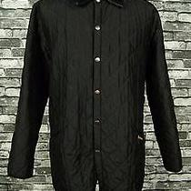 Barbour Eskdale Mens Diamond Quilted Barn Jacket Outdoor Coat Black Xl Photo