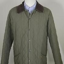 Barbour 'Eskdale' Mint Green Diamond Quilted Barn Jacket Coat Medium Photo