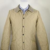 Barbour 'Eskdale' Tan Diamond Quilted Barn Button Front Jacket Men's Xs Photo