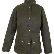 Barbour for J Crew Convoy Jacket Color Olive Size 14 Item B0709 Photo