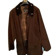Barbour Gamefair Men's Waxed Jacket Brown Size L Euc Photo