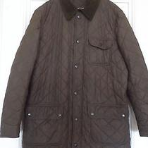 Barbour Gentlemen's Olive Green Barnes Sportsquiltjacket Size Xl Excellent Photo