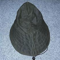 Barbour Genuine Mens Xl Waxed Cotton Wide Brim Waterproof Sun Hat         B2 Photo