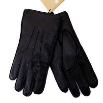 Barbour Gift for Him Men's Genuine Real Leather Gloves (Black - m) Photo