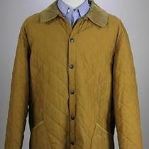 Barbour Gold Diamond 'Classic Eskdale' Quilted Barn Jacket Men's Xl Photo