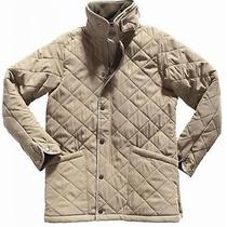 Barbour Gold 'Polarquilt' Diamond Quilted Fleece Lined Barn Jacket Small Short Photo