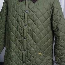 Barbour Green Diamond Quilted Liddesdale Classic Barn Jacket Mens Medium  Photo
