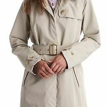 Barbour Inglis Womens Belted Waterproof Trench Coat Uk 12 / Us 8 Khaki Beige Photo