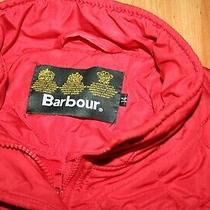 Barbour International Quilted Jacket Womens Red Waterproof Size Uk 14 Us 10 Photo