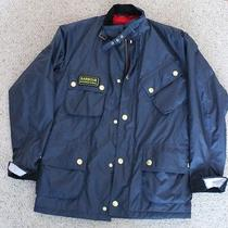 Barbour International Waterproof Breathable Winter Jacket. Classic M Bike Style Photo